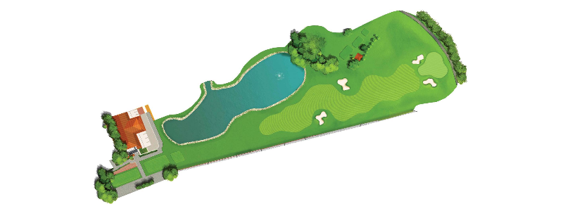This is an ideal starting hole considering that it is drivable for most pros especially if there is no head wind. My only concern would be to avoid going too far right which is OB along the entire length as it borders the high driving range fence.