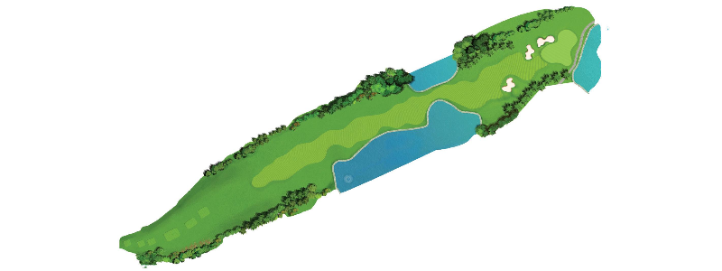 A fun hole for the long hitter, with a good chance of getting on