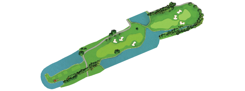 The 3rd toughest hole on this course calls for a long and accurate