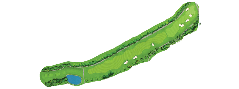Pros will treat this as a two shot par 5, and often loft their